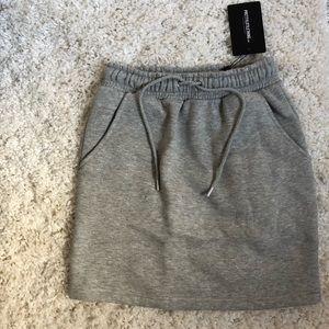 Pretty little thing grey sweat skirt